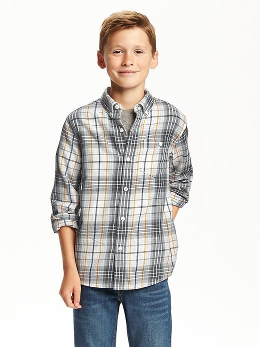 Twill Button-Down Shirt for Boys