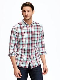 Old Navy Brushed-Twill Plaid Men's Shirt
