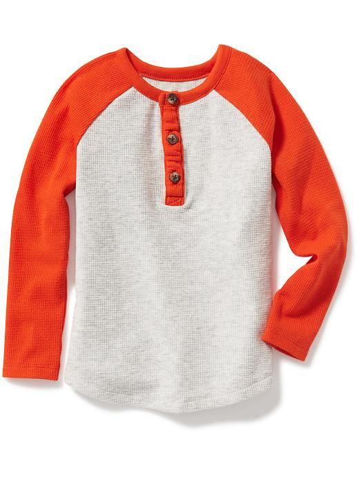 Color-Block Thermal Henley for Toddler