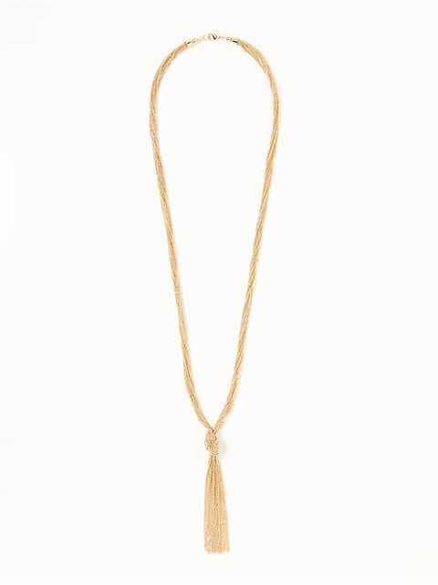 Knotted Multi-Strand Chain Necklace for Women