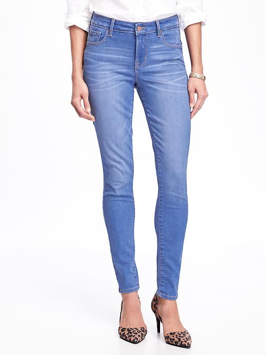 Mid Rise Rockstar Skinny Jeans For Women