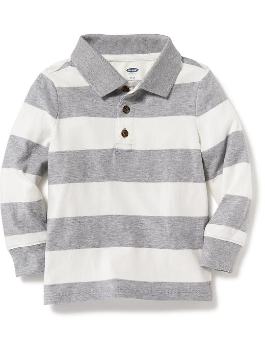 Striped Jersey Polo for Toddler