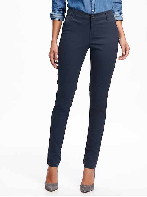 a122de00169 Mid-Rise Skinny Everyday Khakis for Women
