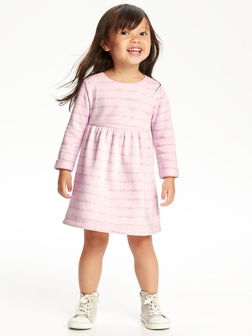 Bow-Back Fleece Dress for Toddler