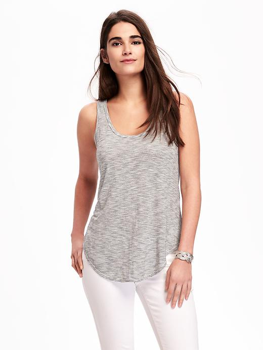 Relaxed Curved-Hem Tank for Women