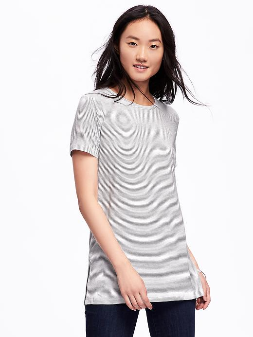 Relaxed Crew-Neck Tunic for Women