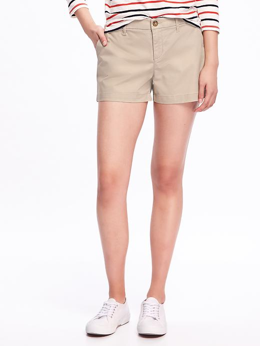 Relaxed Mid Rise Shorts For Women