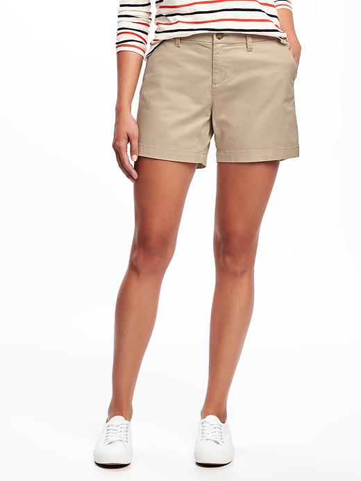 Everyday Khaki Mid Rise Shorts For Women