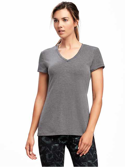 Lightweight V-Neck Performance Tee for Women