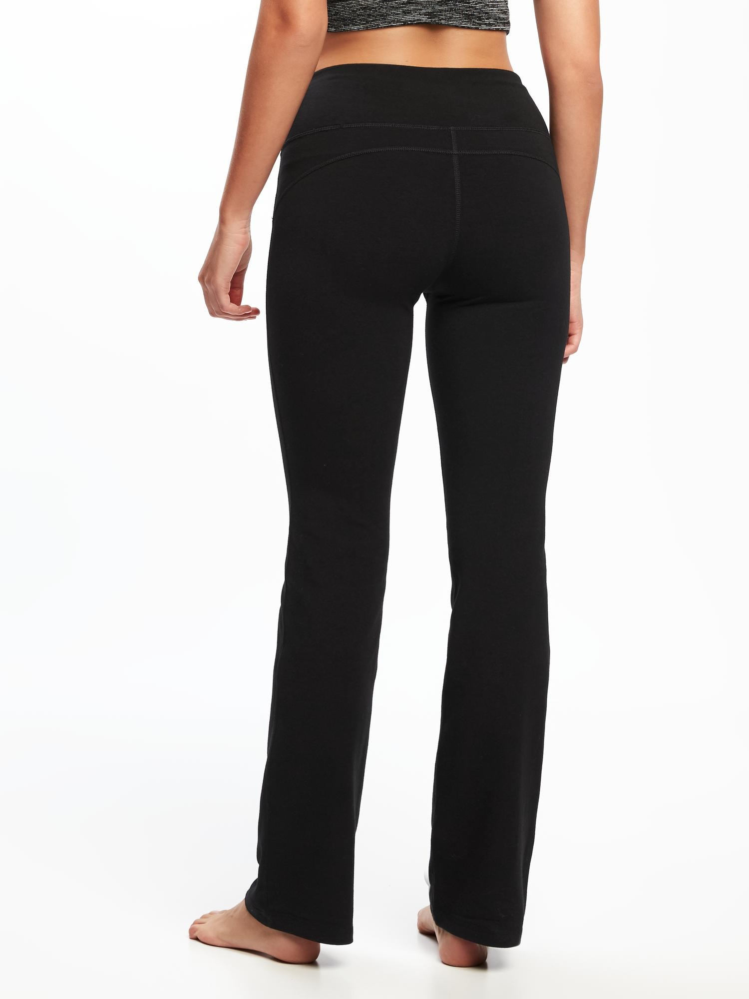 Go-Dry Mid-Rise Bootcut Yoga Pants for Women | Old Navy