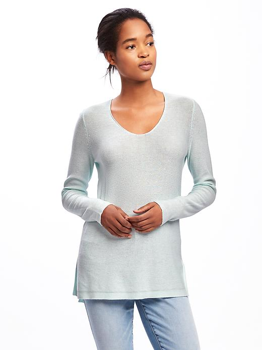 Old Navy Relaxed Textured Tunic Sweater For Women Size XXL - Morning sky