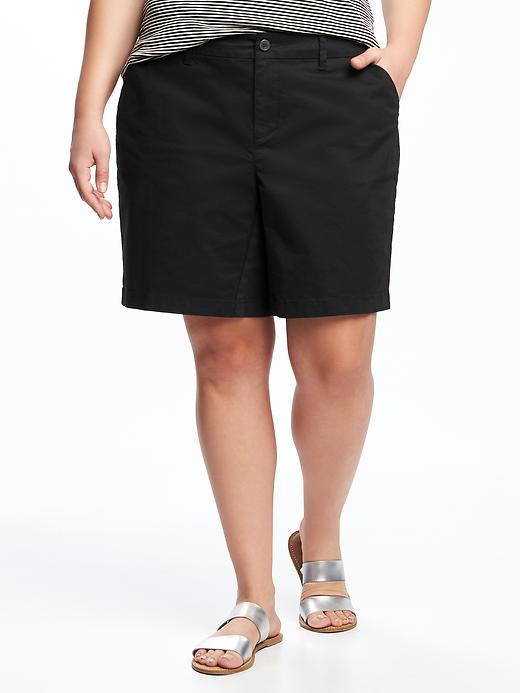 Relaxed Mid Rise Plus Size Everyday Shorts