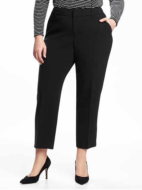 Mid-Rise Secret-Slim Pockets Plus-Size Harper Pants