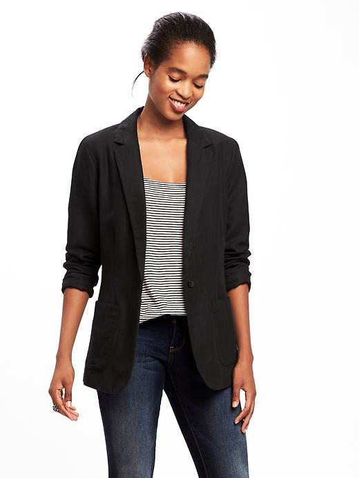 Old Navy Womens Classic Long-Line Blazer