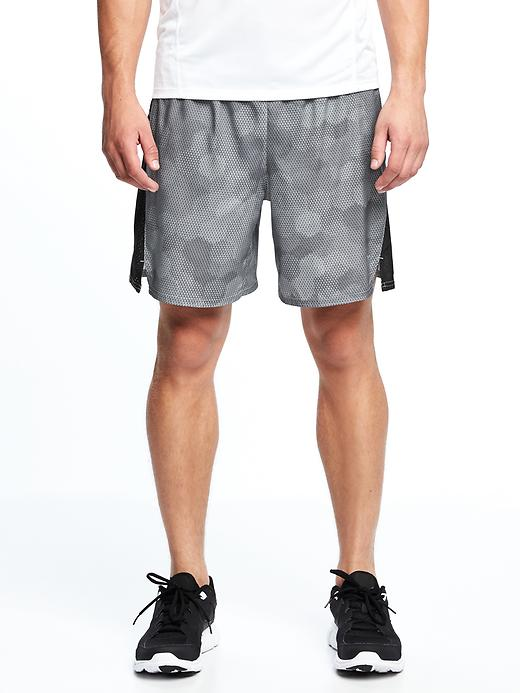 Go-Dry Printed Run Shorts for Men