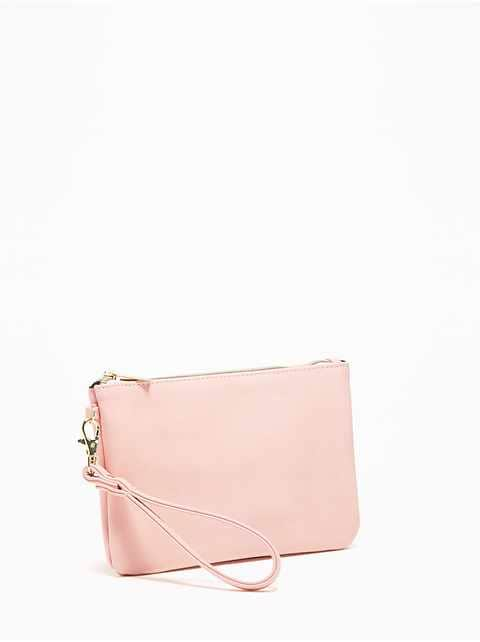 Zip-Top Charging Wristlet Clutch for Women