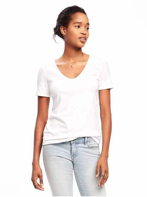Slim-Fit V-Neck Tee for Women