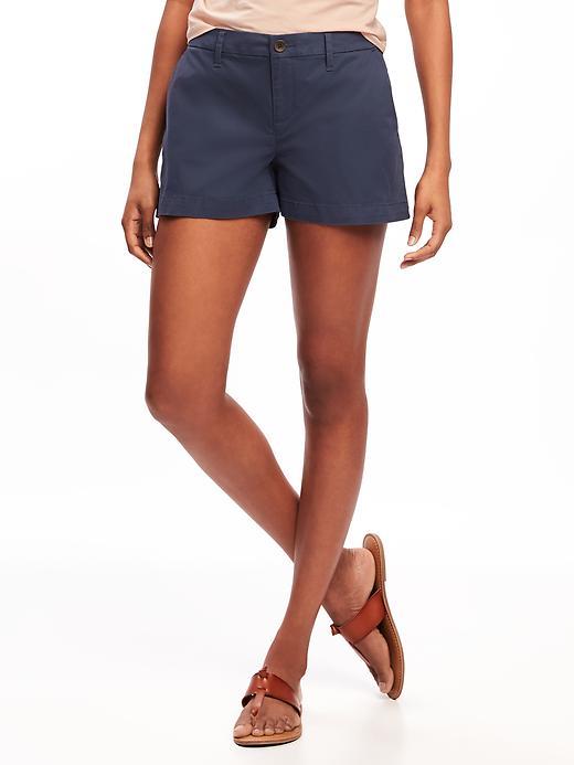 Mid Rise Everyday Khaki Shorts