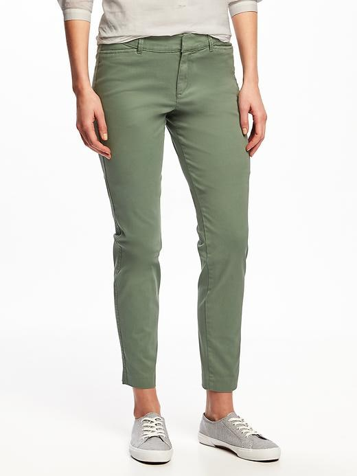 Old Navy Womens Mid-Rise Pixie Chinos For Women Dried Herb Size 8