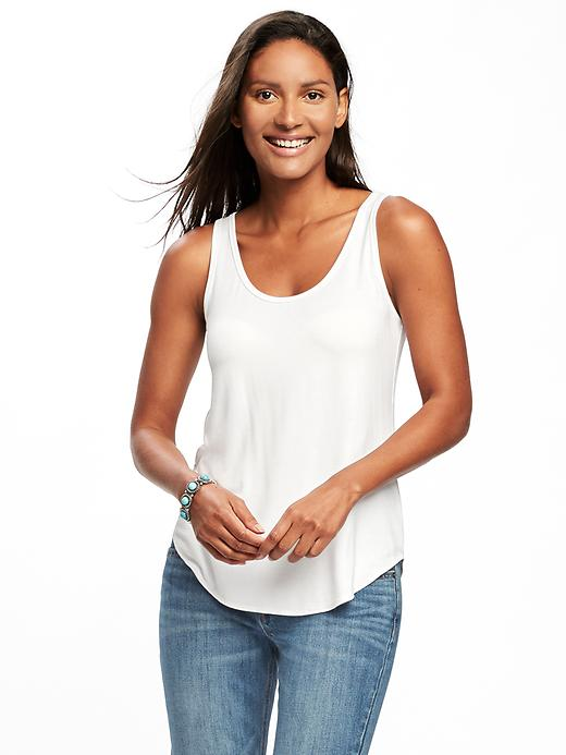 Luxe Curved Hem Tank For Women by Old Navy