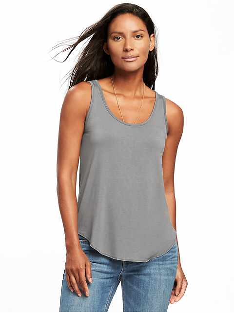 Luxe Curved-Hem Tank for Women