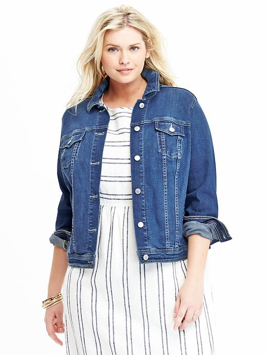Old Navy Plus Size Denim Jacket Size 1X Plus - Medium wash plus size,  plus size fashion plus size appare