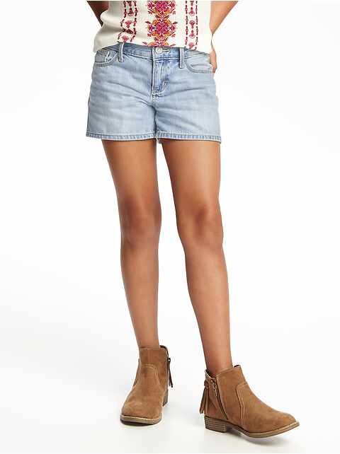 Denim Short Shorts for Girls