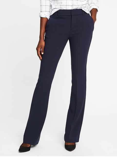 Mid-Rise Slim Flare Harper Full-Length Pants for Women