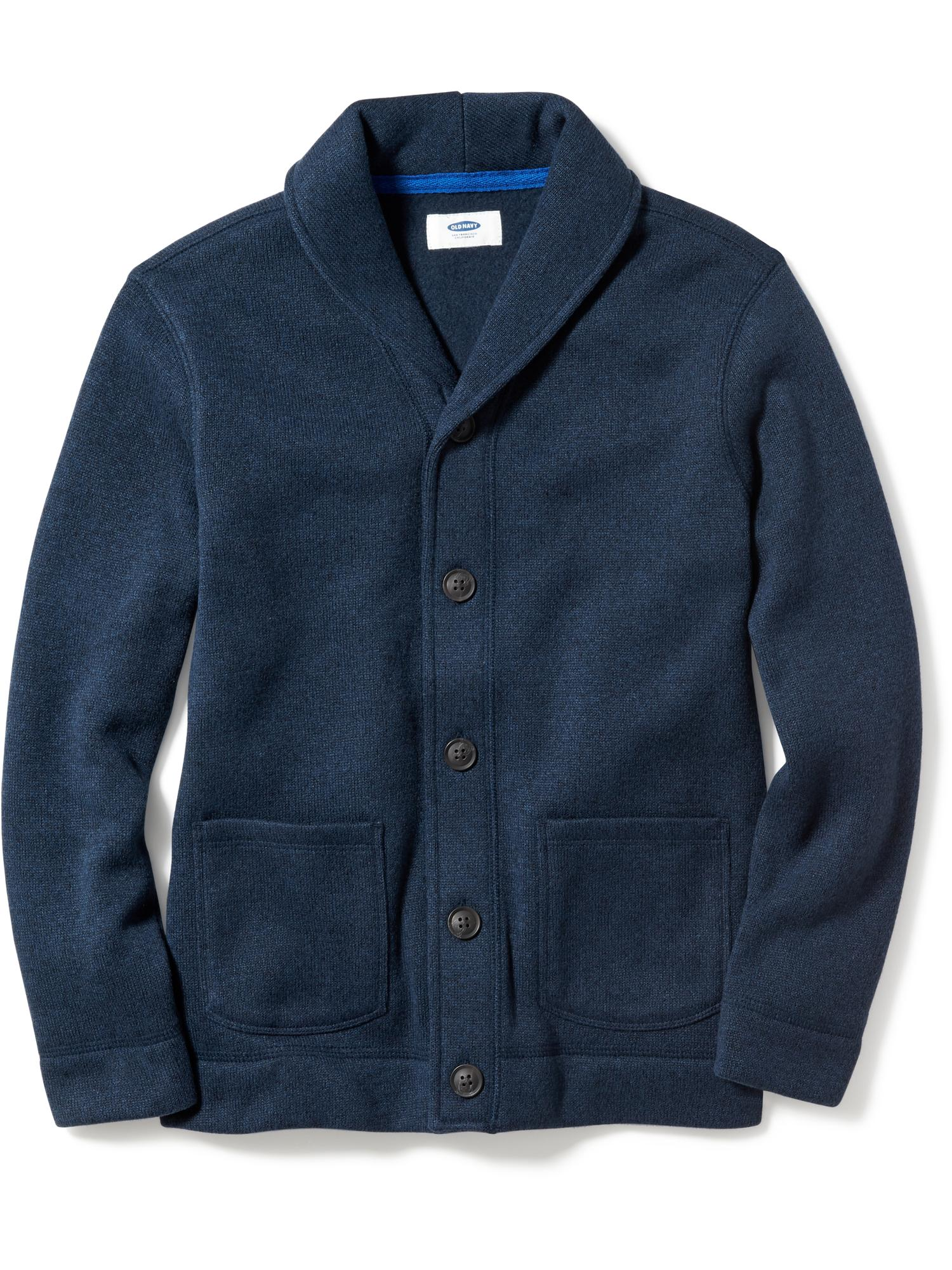 Sweater-Knit Fleece Cardigan for Boys | Old Navy