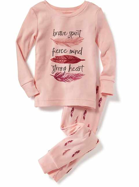 """Brave Spirit, Fierce Mind, Strong Heart"" Sleep Set for Toddler & Baby"