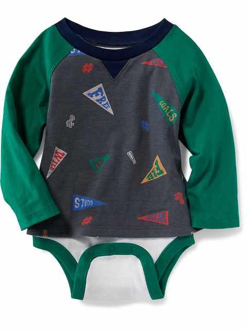 2-in-1 Raglan Tee Bodysuit for Baby