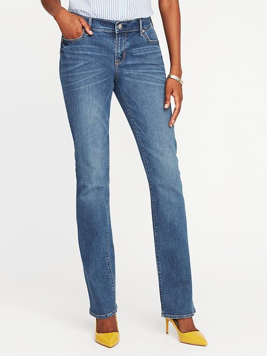 Old Navy Womens Mid-Rise Original Boot-Cut Jeans For Women