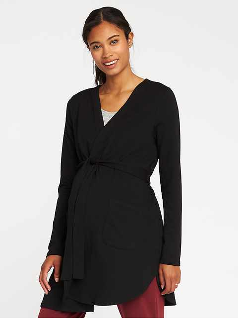 Maternity French Terry Tie-Belt Robe
