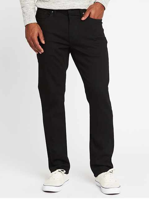 Straight Built-In Flex Max Never-Fade Jeans for Men