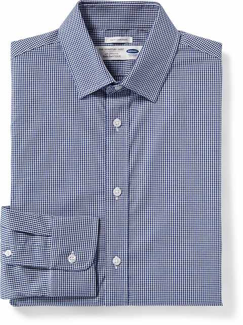 Slim-Fit Built-In Flex Signature Non-Iron Dress Shirt for Men
