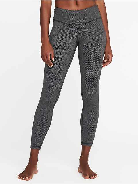 Mid-Rise Herringbone 7/8-Length Leggings for Women
