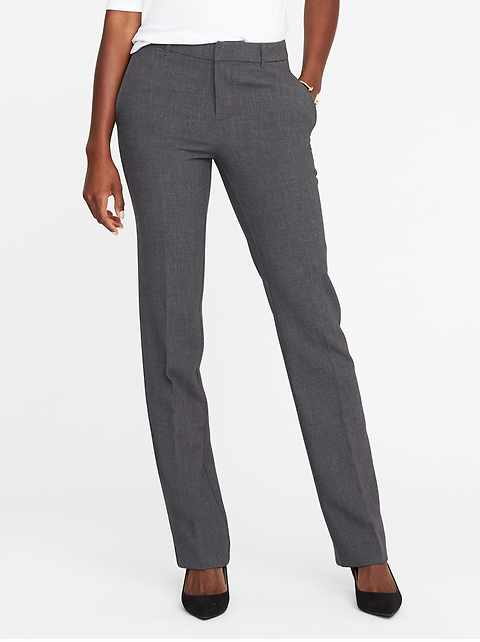 Mid-Rise Harper Full-Length Pants for Women