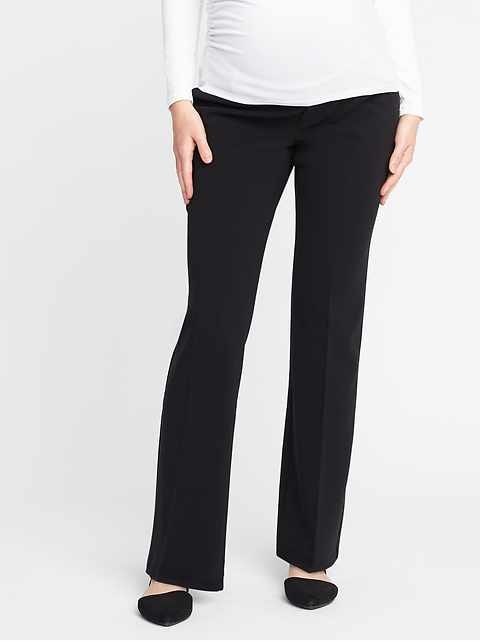 Maternity Premium Full-Panel Slim-Flare Harper Pants