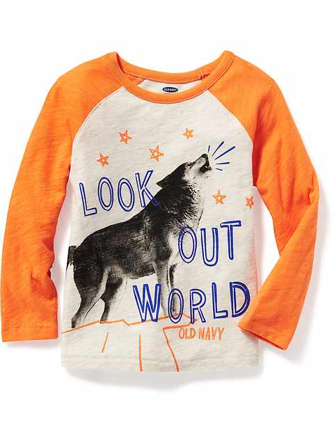 Graphic Raglan-Sleeve Tee for Toddler Boys