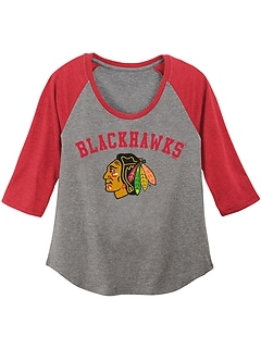 NHL® Raglan-Sleeve Graphic Tee for Girls