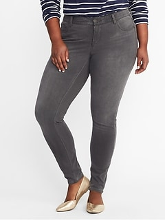 High-Rise Secret-Slim Pockets + Waistband Plus-Size Rockstar 24/7 Jeans