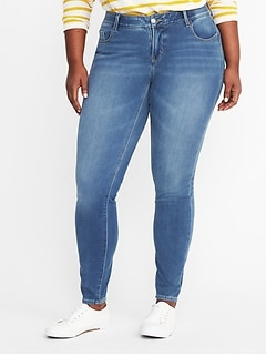 High-Rise Secret-Slim Pockets + Waistband Rockstar 24/7 Plus-Size Jeans