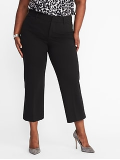 Secret-Slim Pockets + Waistband Plus-Size Ponte-Knit Pixie Ankle Trousers