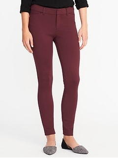 Mid-Rise Built-In Sculpt Ponte-Knit Pixie Ankle Pants for Women