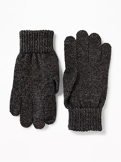 Text-Friendly Sweater-Knit Gloves for Men