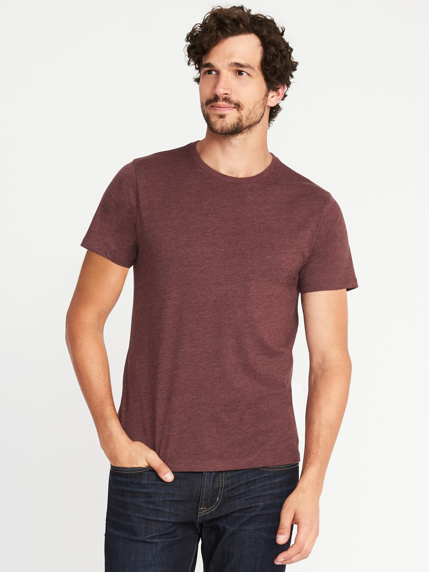 Soft Washed Crew Neck Tee For Men Old Navy Banana Tumblr