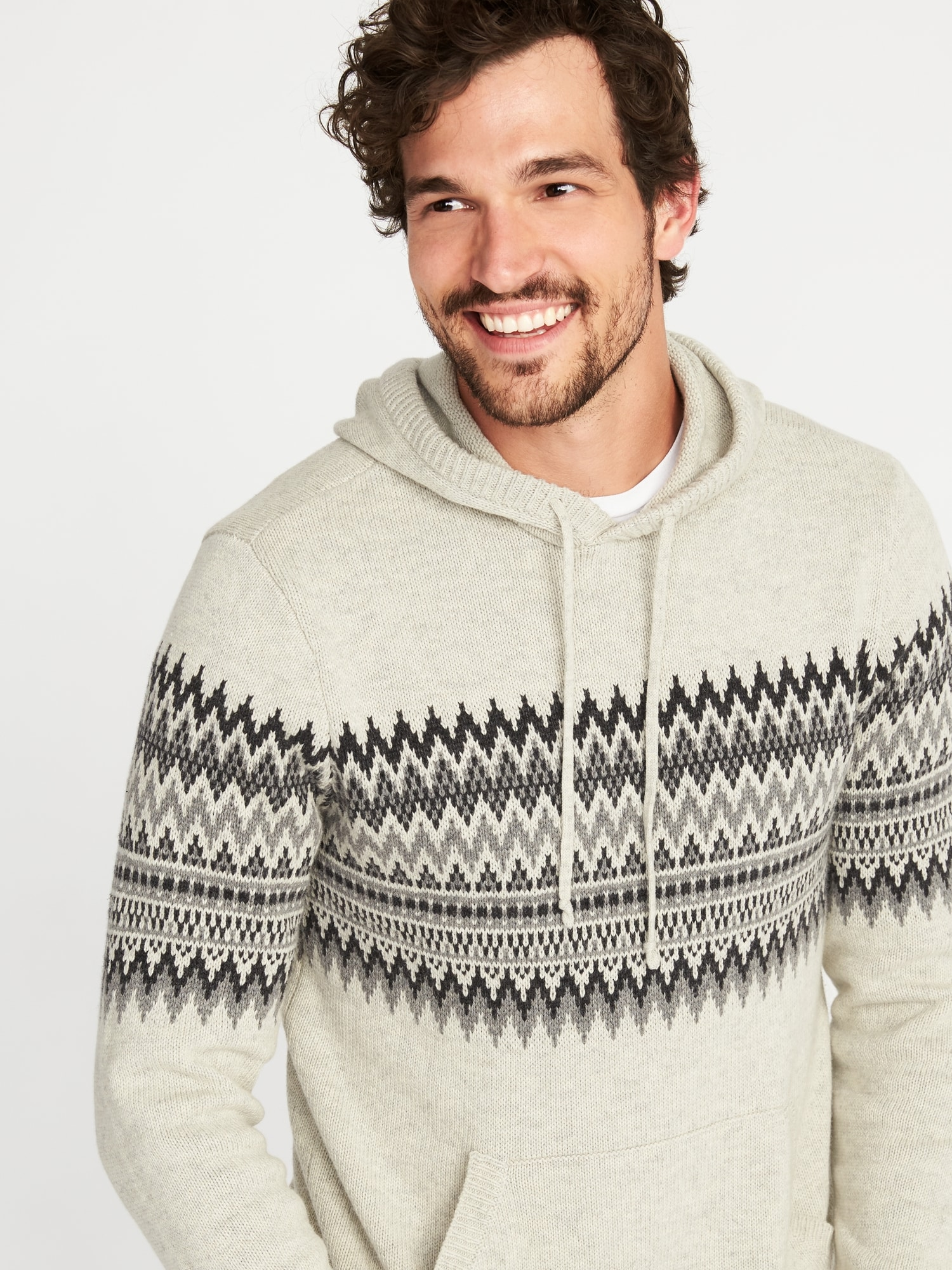 Fair Isle Sweater Hoodie for Men | Old Navy