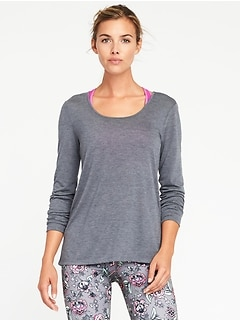 Scoop-Back Performance Tee for Women