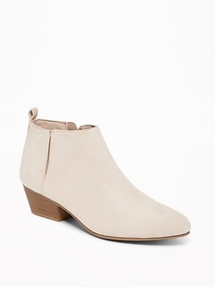 Sueded Ankle Boots for Women