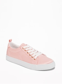 Lace-Up Satin Sneakers for Girls